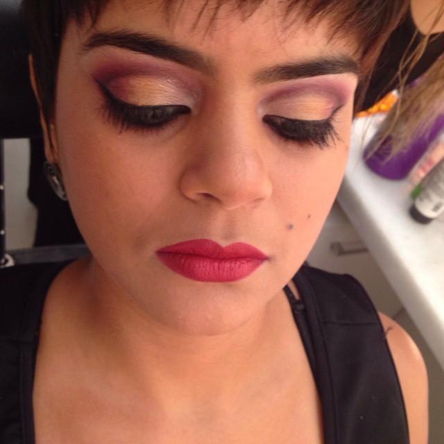 esfumado, festa, balada maquiagem  esteticista maquiador(a)