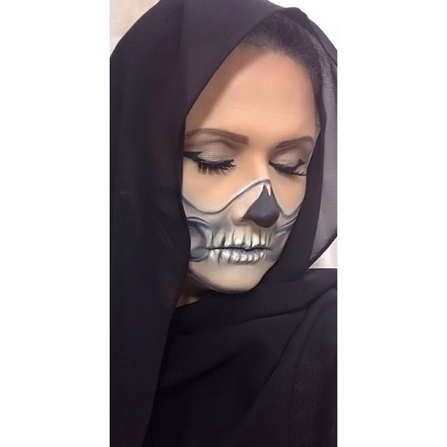 halloween, festa á fantasia, caveira maquiagem  maquiador(a) designer de sobrancelhas cabeleireiro(a)