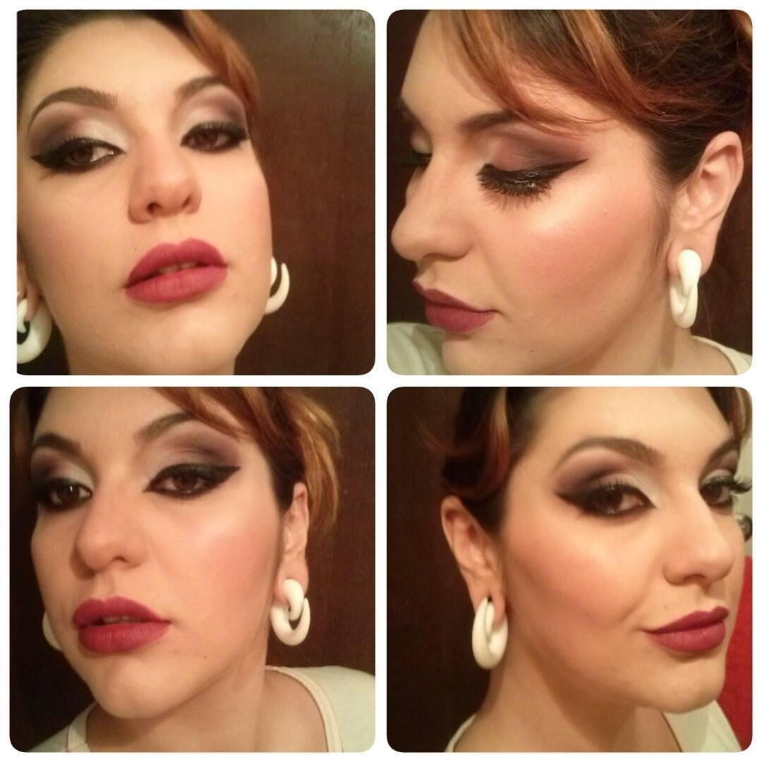 festa, noite, rock elegante maquiagem  maquiador(a)
