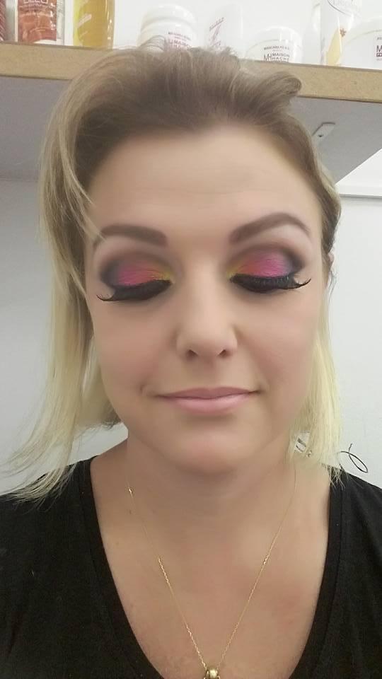 carnaval, colorida, fada, esfumado maquiagem  maquiador(a)