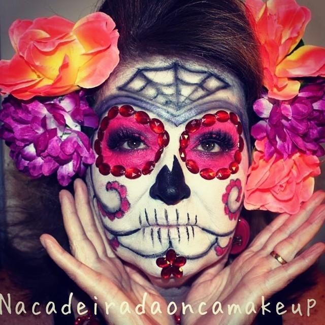 halloween, festa á fantasia, caveira mexicana maquiagem  maquiador(a)