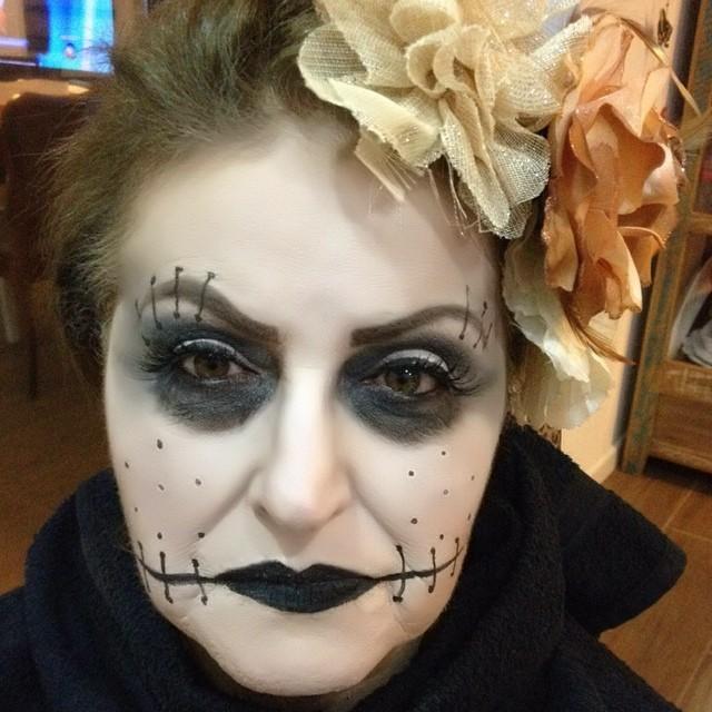 halloween, festa á fantasia, artística maquiagem  maquiador(a)