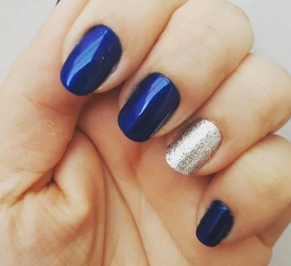 Unhas azul escuro, balada, noite, festa unhas  manicure e pedicure maquiador(a)