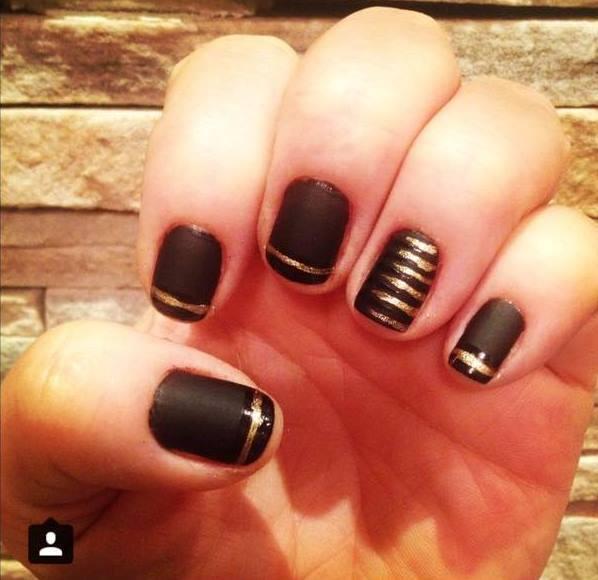 Nail art nail art,  francesinha rock, fosco, jantar unhas  manicure e pedicure maquiador(a)