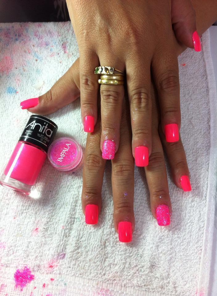 UNHA POSTIÇA postiça, rosa cheguei, balada, anita unhas  manicure e pedicure