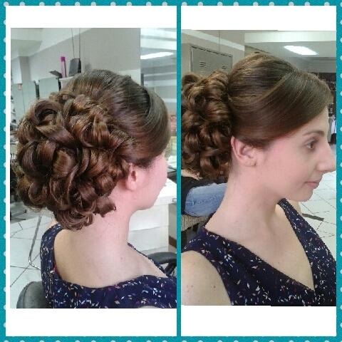 penteados clássico penteado pra noiva, noiva, madrinha, casamento,  cachos, coque cabelo  cabeleireiro(a)