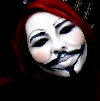 Maquiagem artística artistica, anonymous, v de vingança, halloween, festa á fantasia maquiagem  cabeleireiro(a) maquiador(a) consultor(a) em imagem