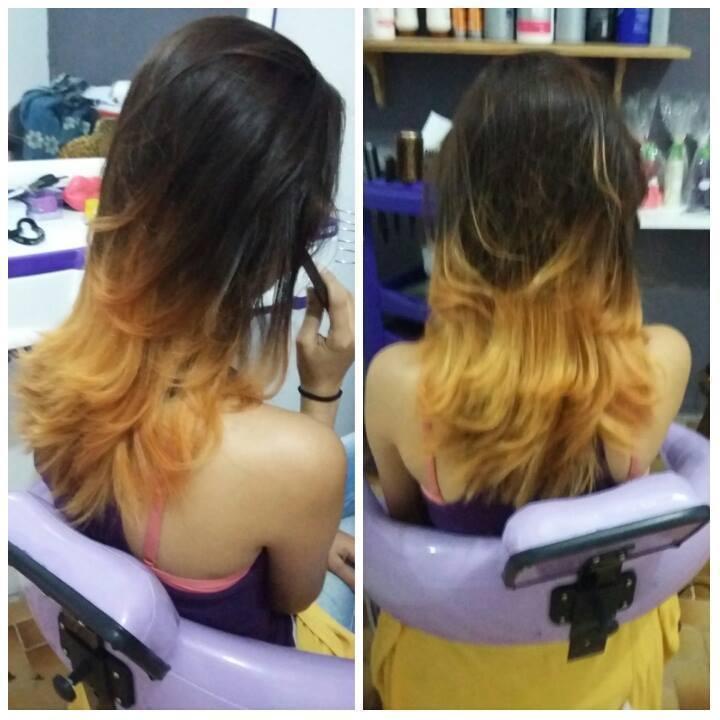 californiana corte em camadas e californiana marcada californiana forte, ombre hair cabelo  cabeleireiro(a) cabeleireiro(a)