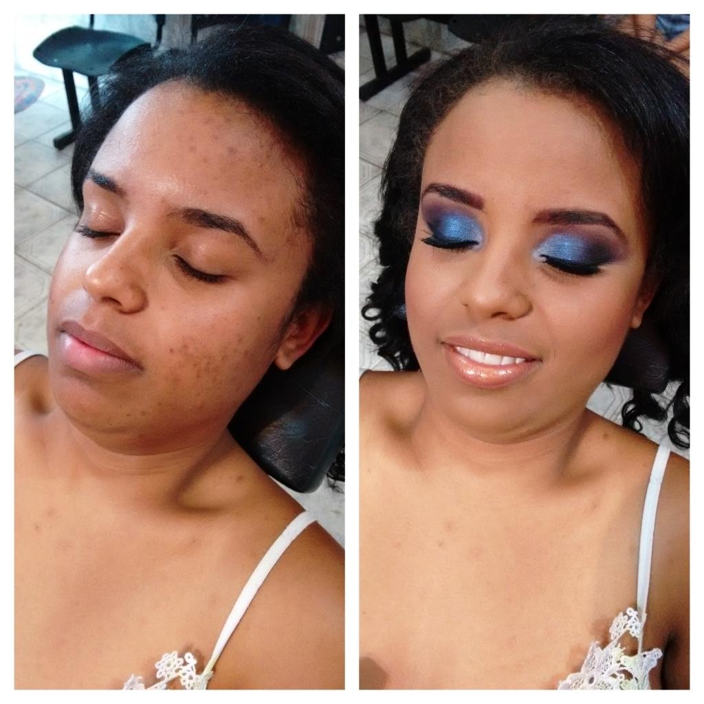 Maquiagem Madrinha madrinha, noite, esfumado azul e roxo, balada, casamento maquiagem  maquiador(a)