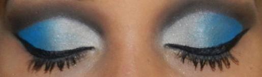 maquiagem  feita por mim  azul esfumado, festa, balada, casamento, noiva, noivinha, debutante, formatura maquiagem  maquiador(a) auxiliar cabeleireiro(a)