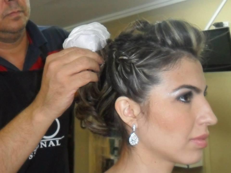 trança lateral com coque, casamento, noiva, penteado cabelo  cabeleireiro(a)