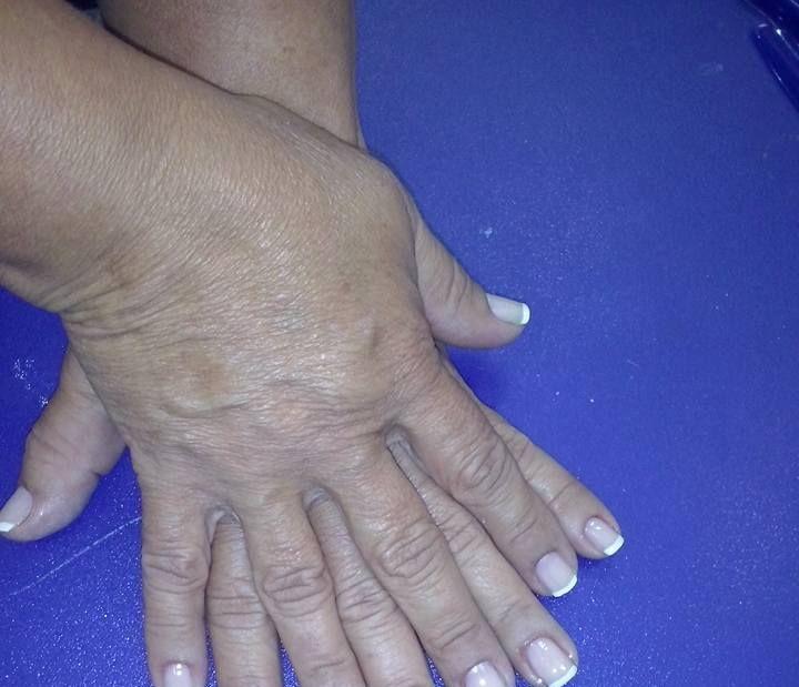 Unhas Francesinha Feita por mim no curso Faetec manicure e pedicure