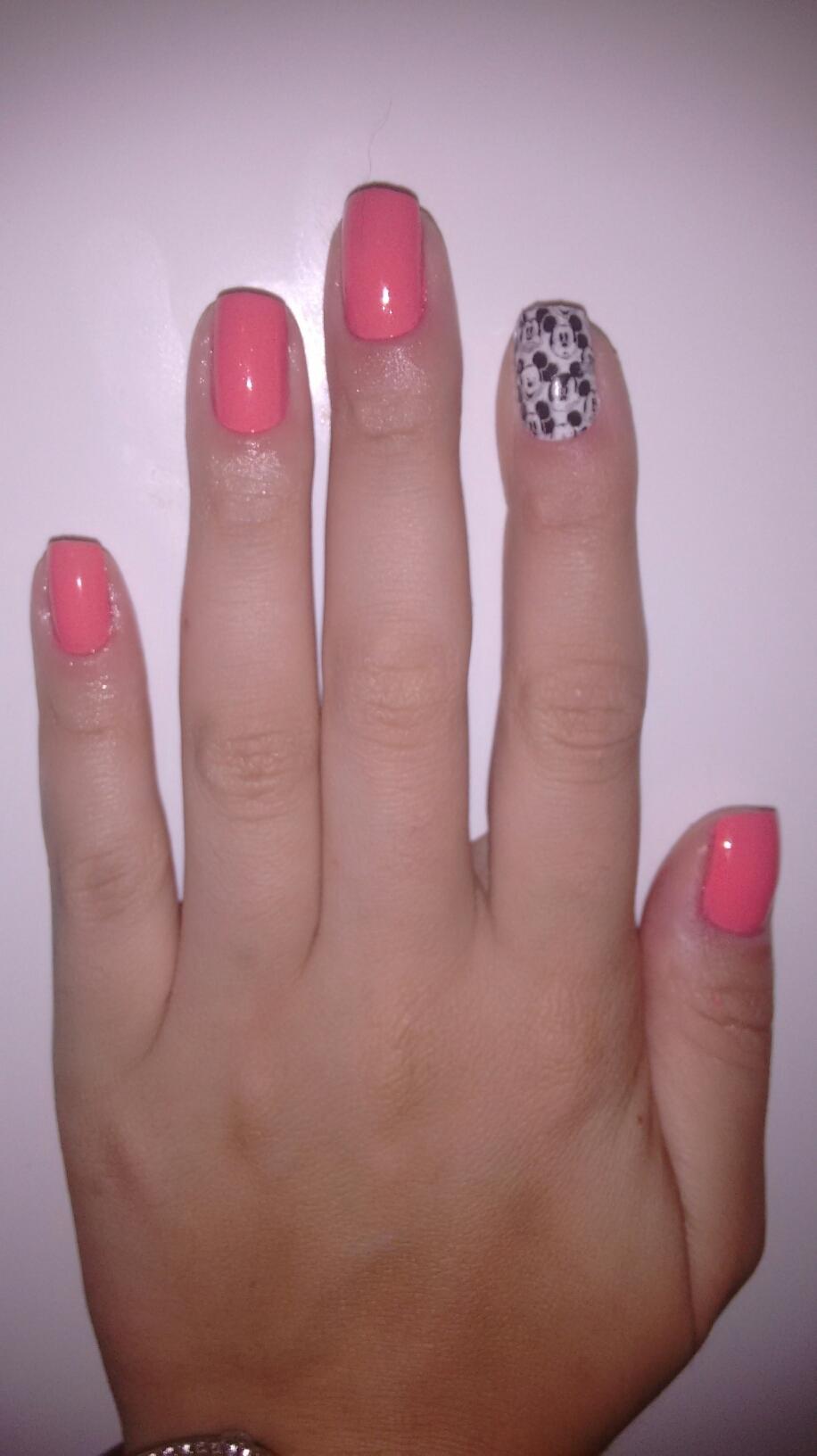 mickey, rosa delicado, rosa bebê unhas  manicure e pedicure