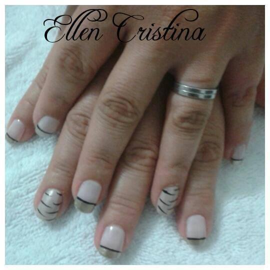 francesinha com desenho, simples, dia-a-dia unhas  manicure e pedicure