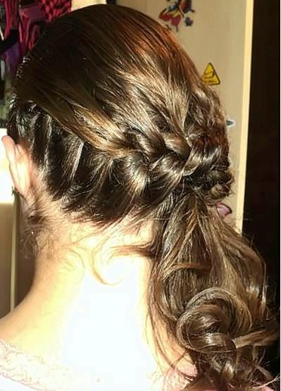 Penteado Trança lateral presa. penteado, trança lateral presa, casamento, noiva cabelo  auxiliar cabeleireiro(a)