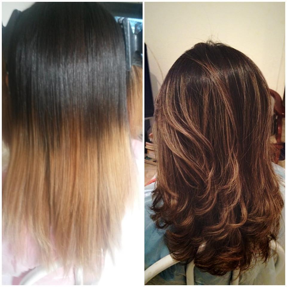 Alguns dos meus trabalhos correção de cor, castanho iluminado cabeleireiro(a)