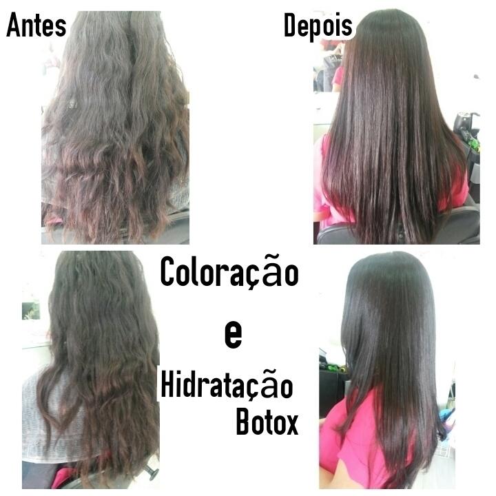 Coloração e Hidratação Botox cabeleireiro(a) maquiador(a) depilador(a)