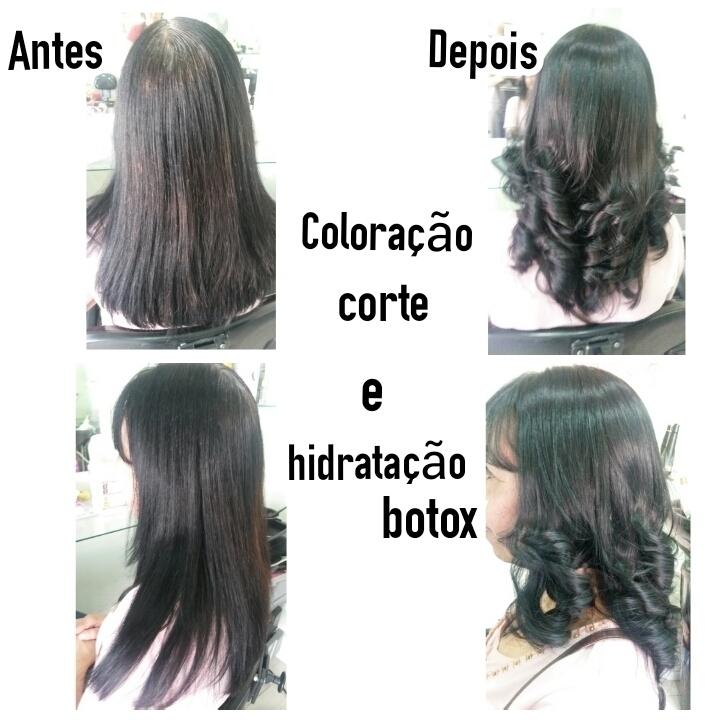 Coloração, Corte e Hidratação Botox cabeleireiro(a) maquiador(a) depilador(a)