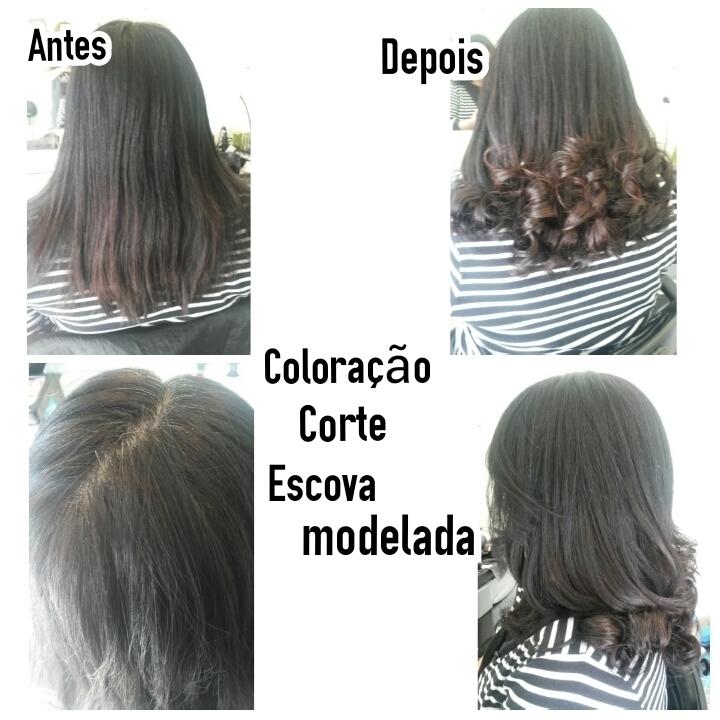 Coloração, Corte e Escova Modelada cabeleireiro(a) maquiador(a) depilador(a)