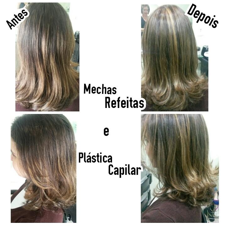 Mechas Refeitas e Plástica Capilar cabeleireiro(a) maquiador(a) depilador(a)