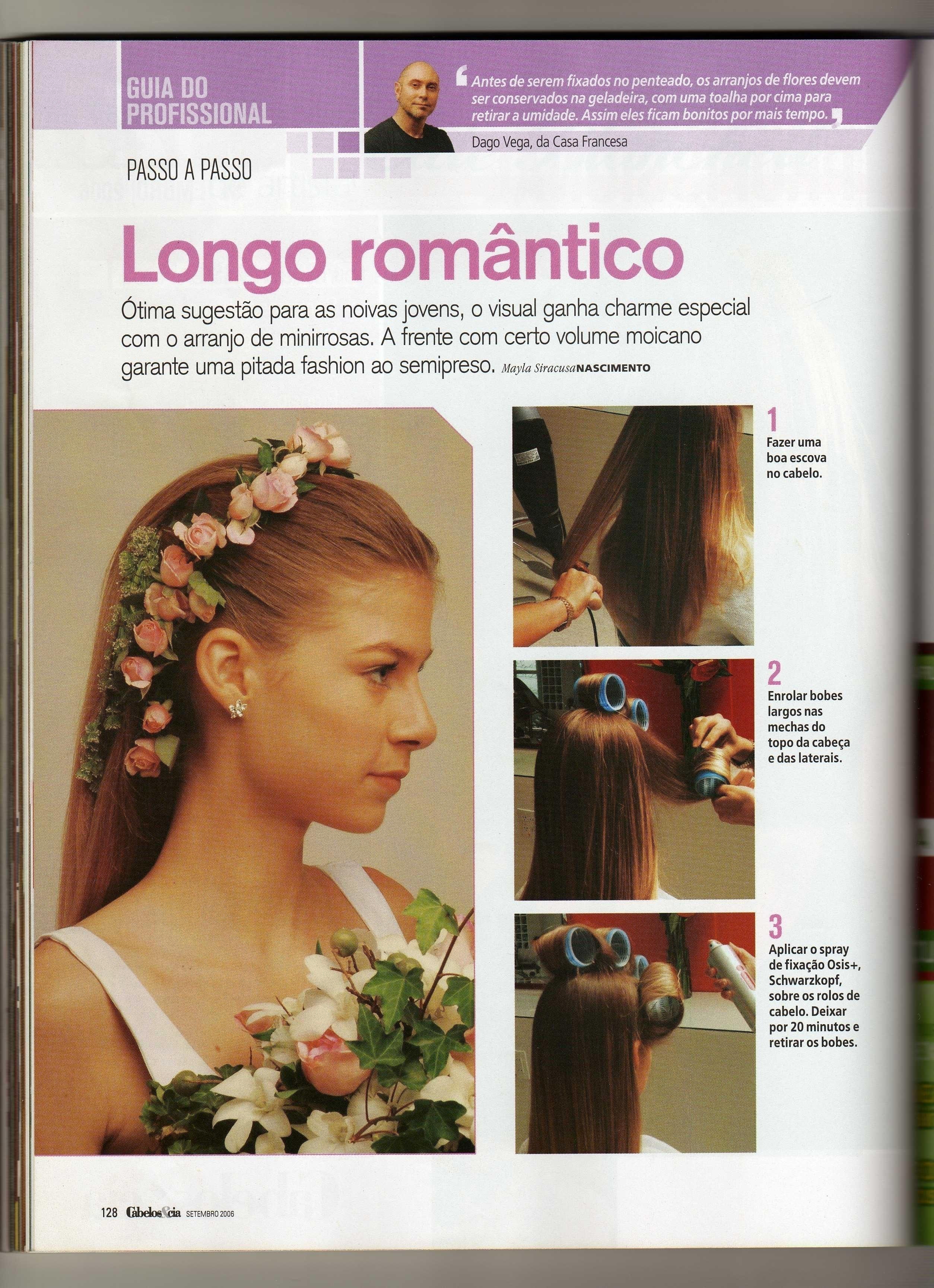 materia da Revista cabelo & Cia feito por mim cabeleireiro(a) docente / professor(a) maquiador(a) stylist /visagista