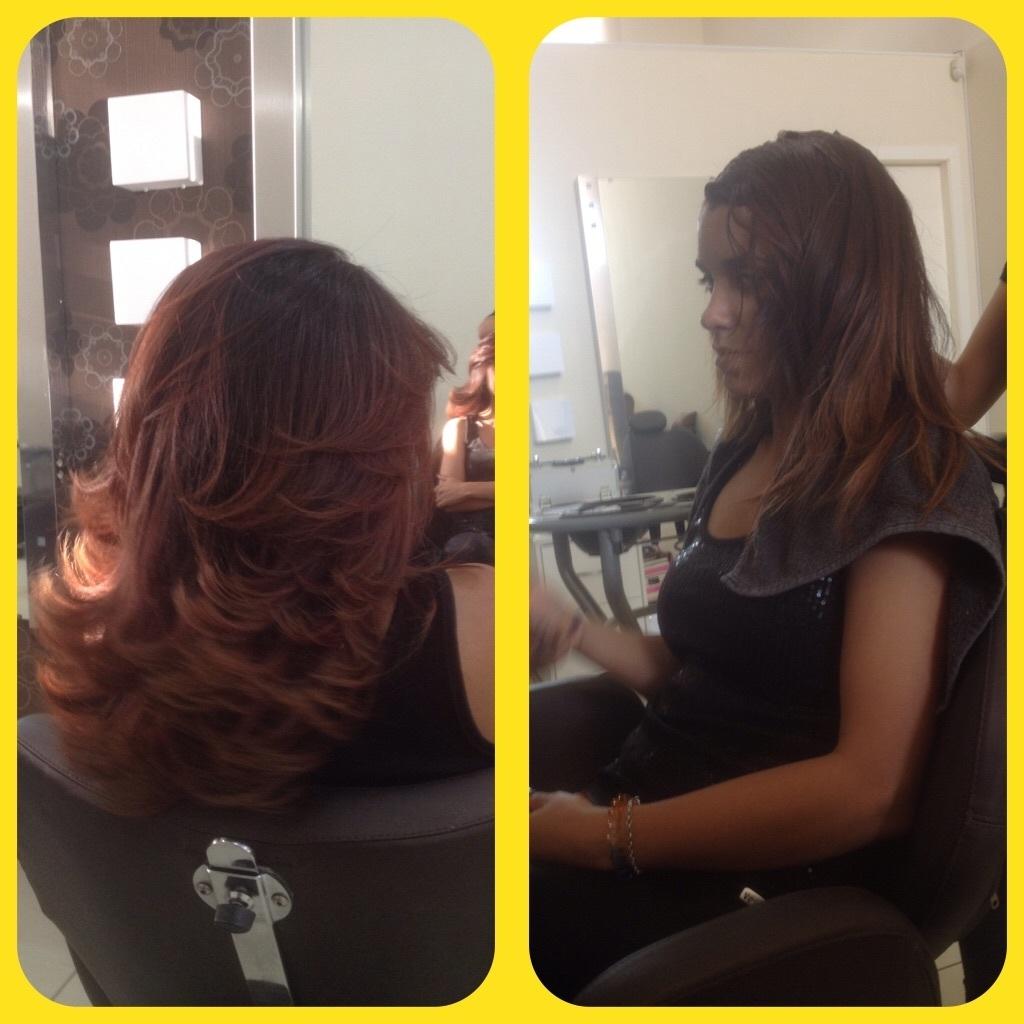 Retoque de raiz, corte e escova... cabeleireiro(a)