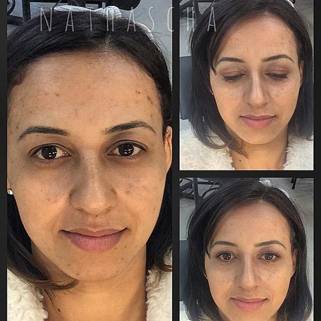 Make nude dia  Uma maquiagem com uma pele bem preparada,olhos com tom marrom, delineado esfumado e batom de um leve tom de rosa. maquiador(a) designer de sobrancelhas