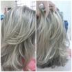 Faço varios trabalhos como cabeleireira ! Segue foto do mais recente. Nesse trabalho foram realizados: corte e luzes
