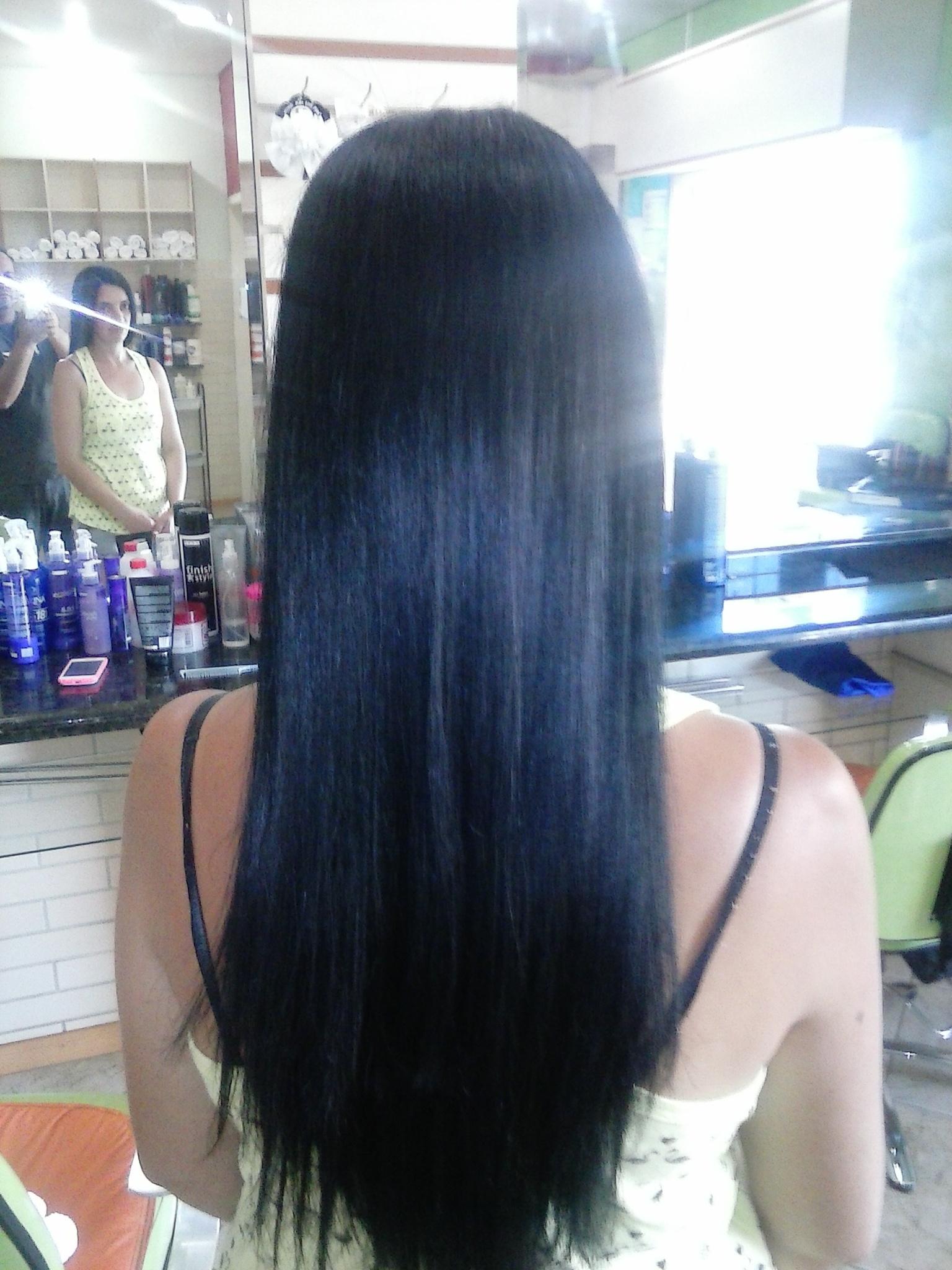 tratamento em cabelo escuro cabeleireiro(a)
