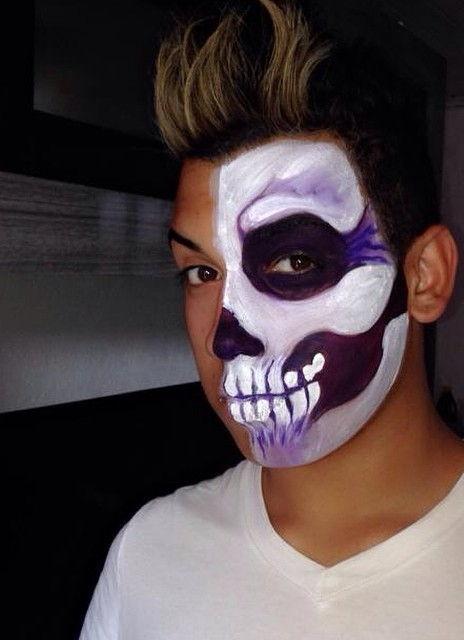 Make tematica artística, festa á fantasia, halloween, caveira maquiagem  maquiador(a) escovista depilador(a) designer de sobrancelhas micropigmentador(a)