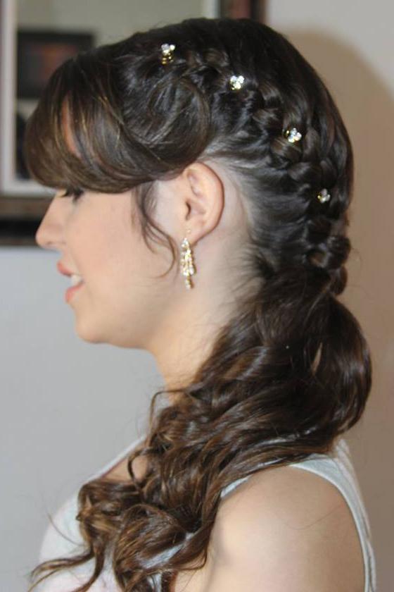 Hair  trança lateral presa, noiva, casamento, noivinha cabelo  maquiador(a) escovista depilador(a) designer de sobrancelhas micropigmentador(a)
