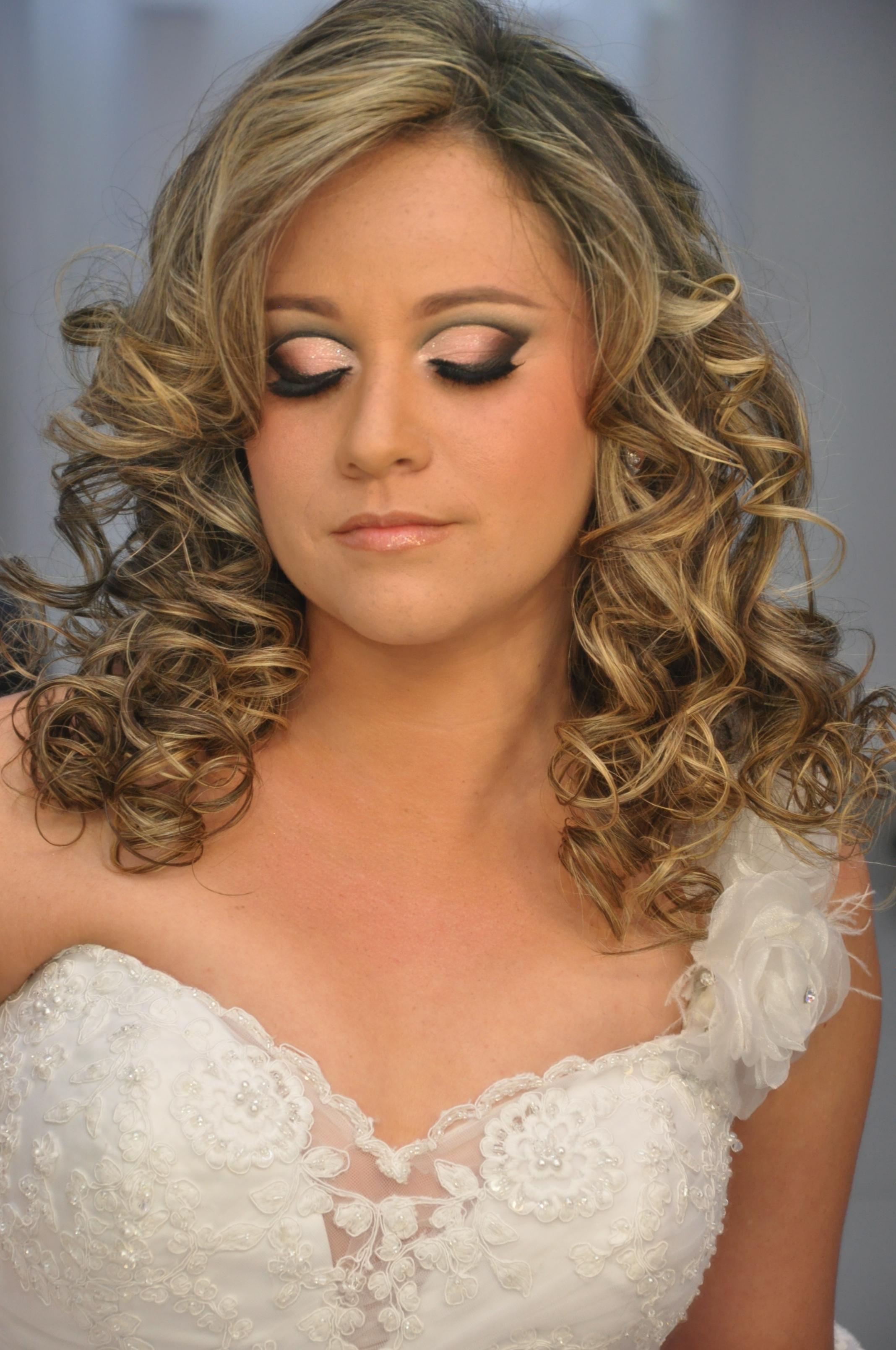 cachos, casamento, luzes, noiva cabelo maquiagem  maquiador(a)