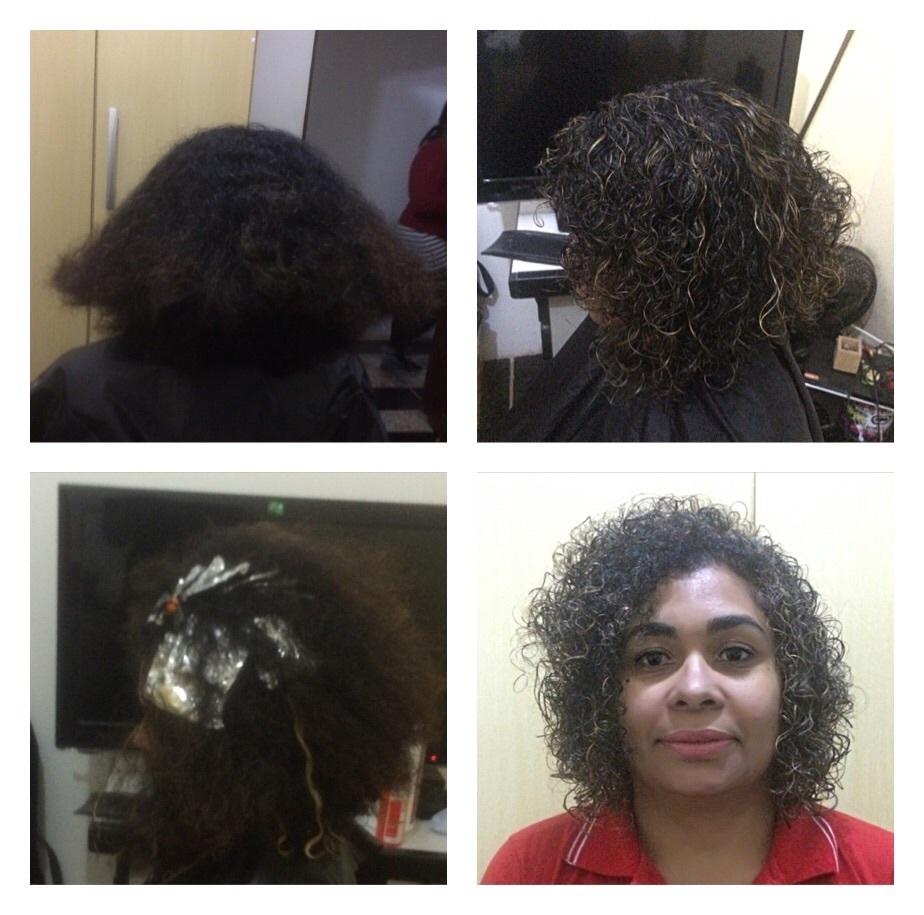 Corte e mechas cabeleireiro(a)