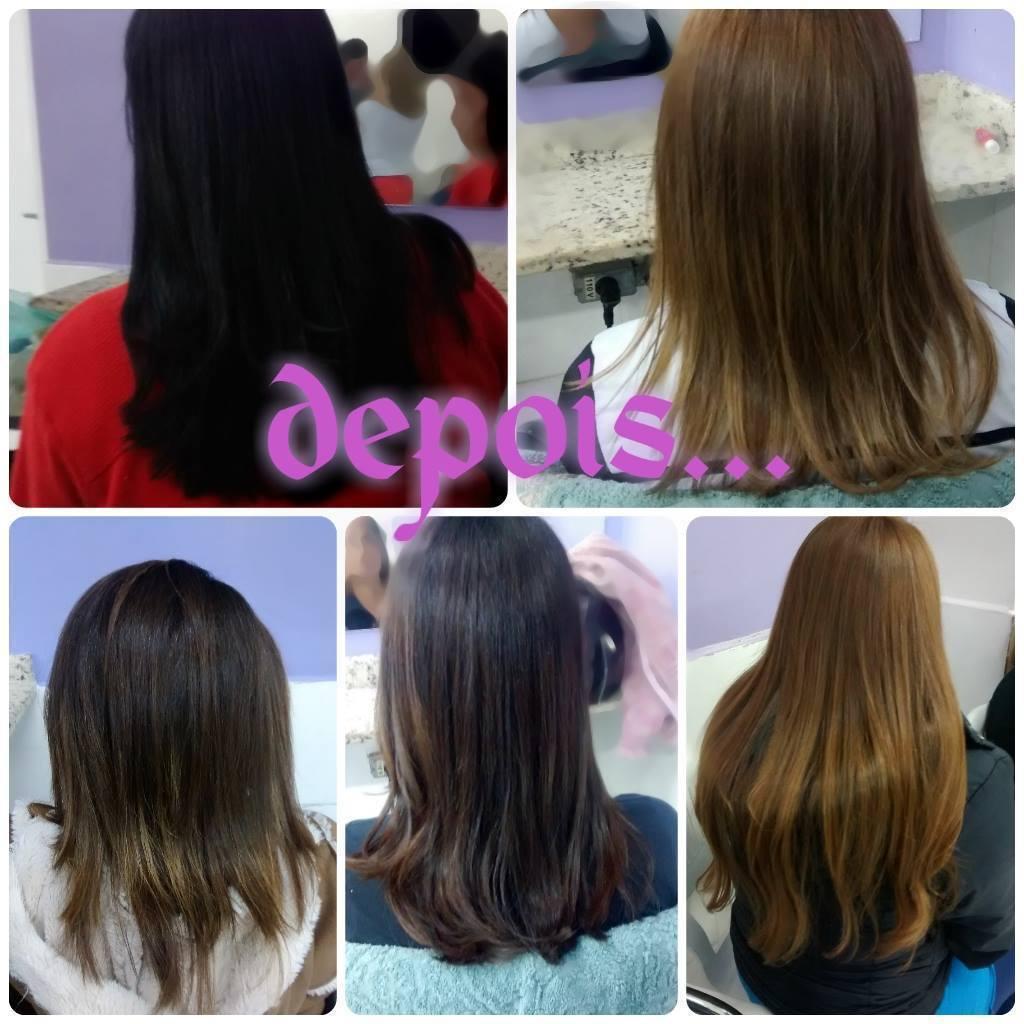 Escovação Hidratação, escovação e finalizado cm a prancha cabeleireiro(a)