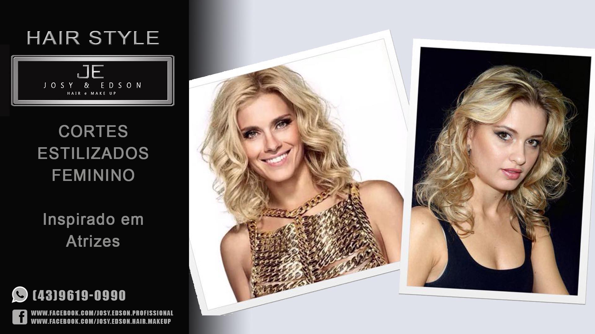 Hair Stylist Cortes femininos estilizados, inspirado nas atrizes. cabeleireiro(a)