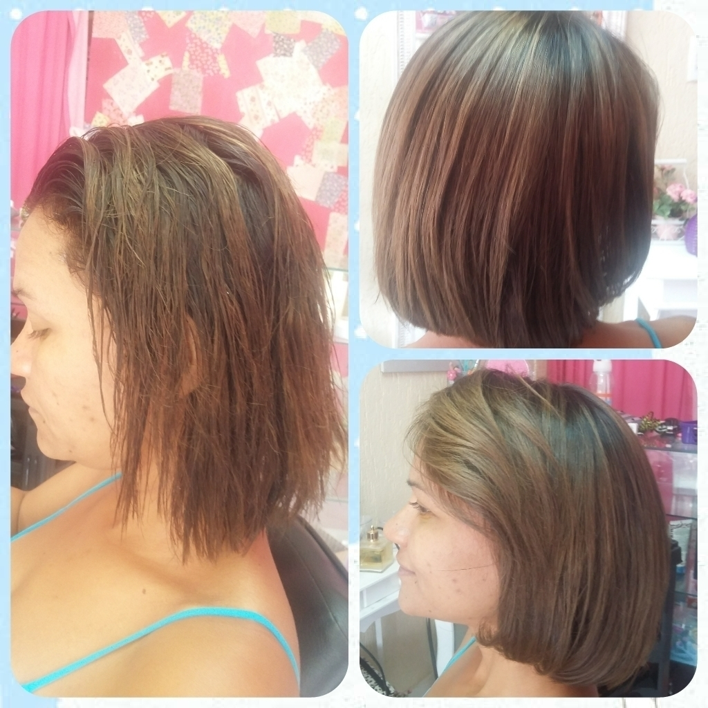 Cliente BOTOX e reconstrução de fios realizado no bárbaras hair auxiliar cabeleireiro(a) telemarketing auxiliar cabeleireiro(a)