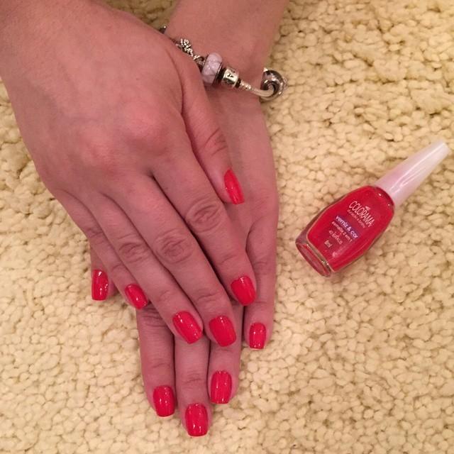 vermelho, unha unhas  manicure e pedicure