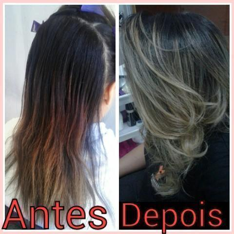 Sombré Hair Mechas preservando a raiz mais escura com o esfumado no tom natural do cabelo. cabeleireiro(a)