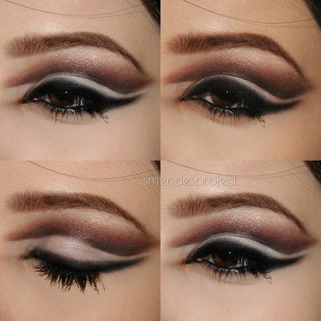 maquiagem, marrom, branco maquiagem  maquiador(a)