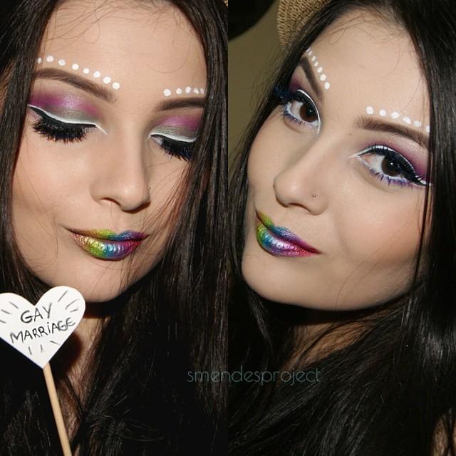 make pra rave, colorida, carnaval maquiagem  maquiador(a)
