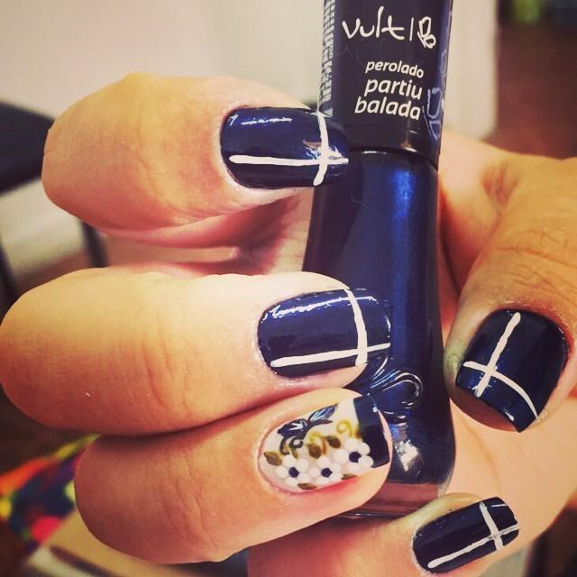 unhas, flor, desenho unhas  manicure e pedicure