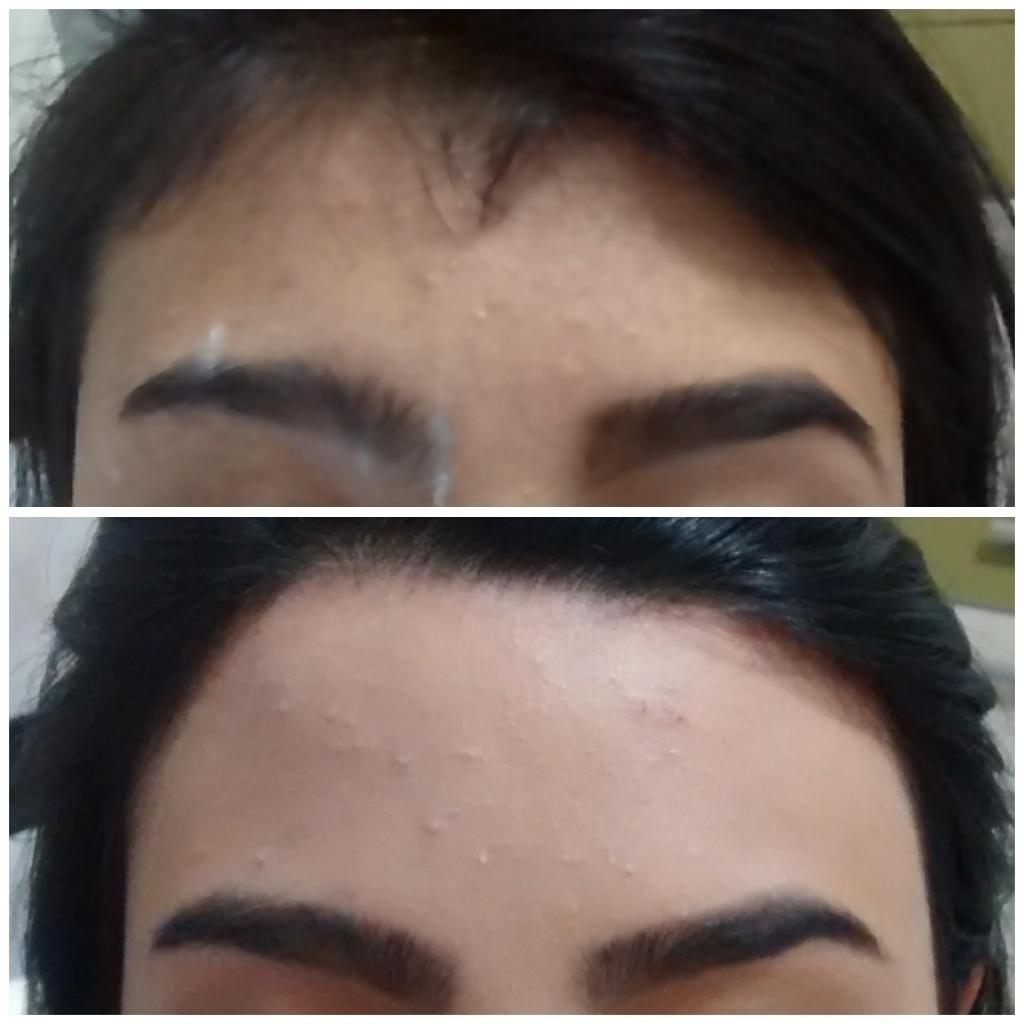 Depilação egípcia Usei somente a técnica com linha designer de sobrancelhas auxiliar administrativo telemarketing depilador(a)