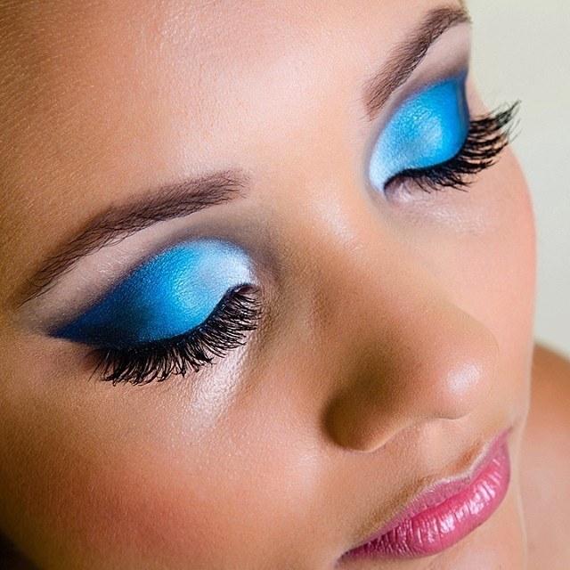 maquia, azul, preto maquiagem  maquiador(a)