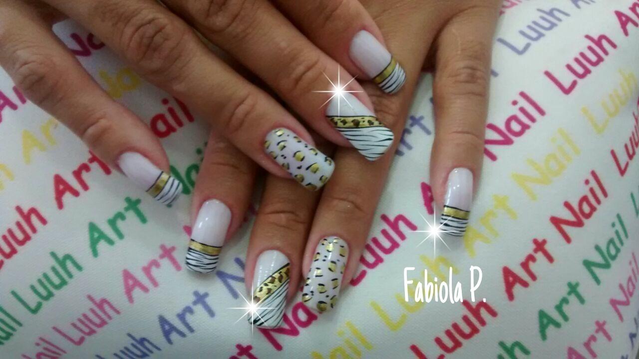 unha decorada, oncinha e zebra, festa unhas  manicure e pedicure