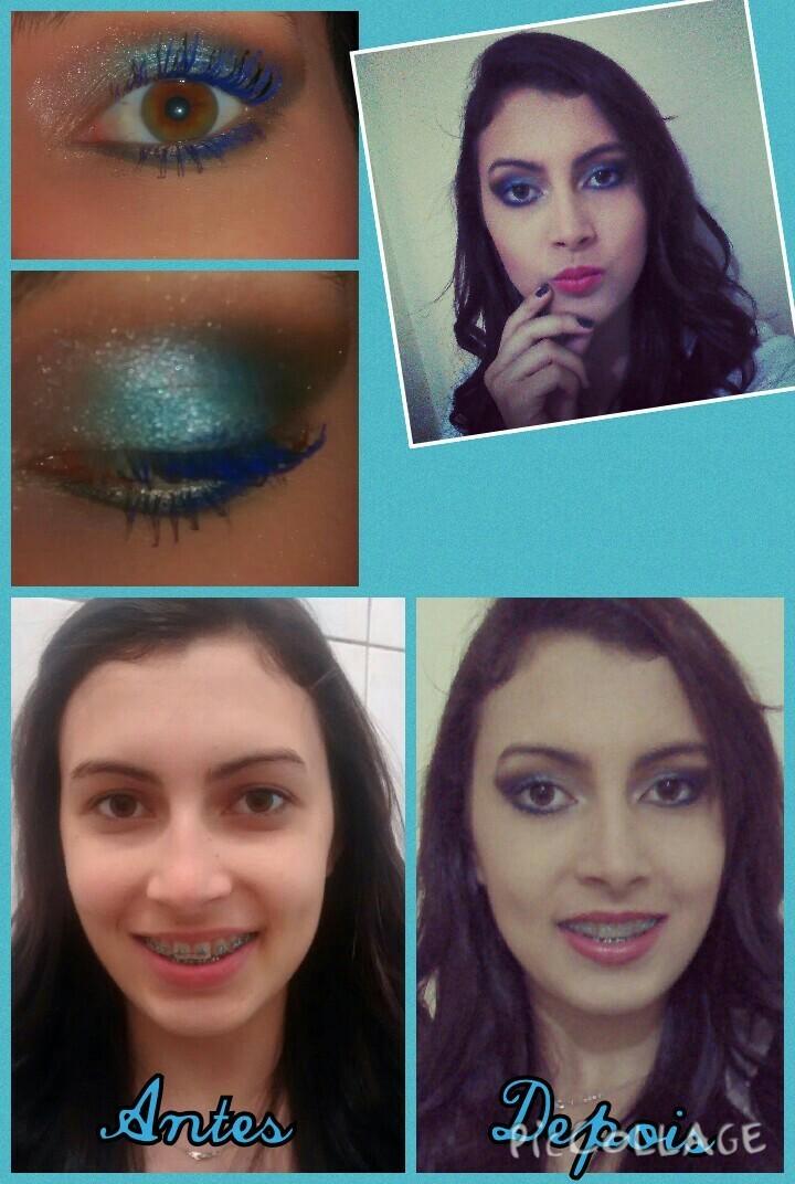 Make azul Essa é uma maquiagem azul  maquiador(a)