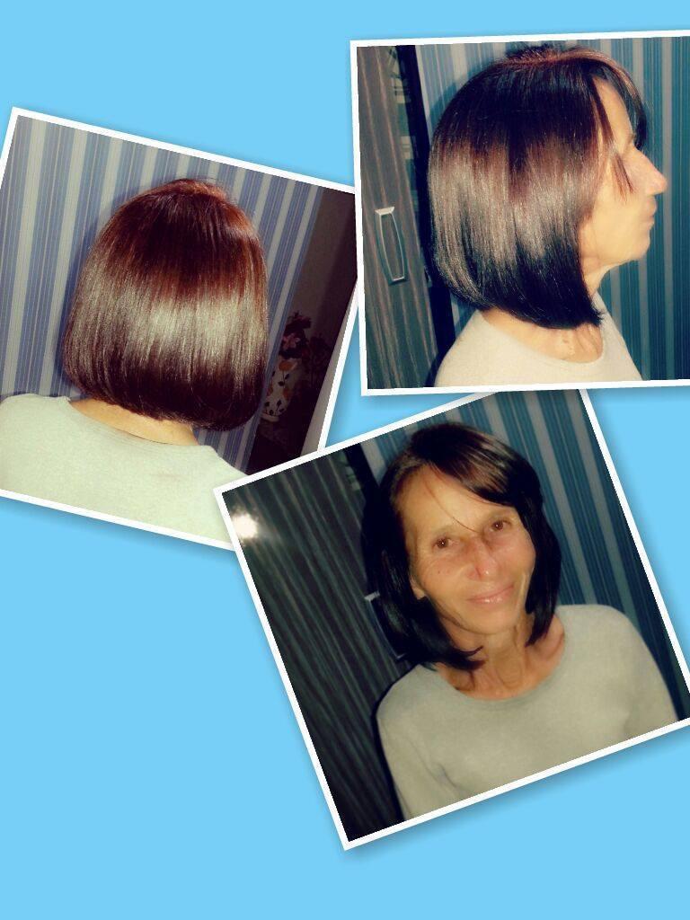 coloração 55.66 e corte chanel de bico. cabeleireiro(a)
