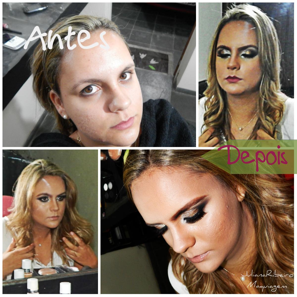Antes e Depois maquiador(a) designer de sobrancelhas