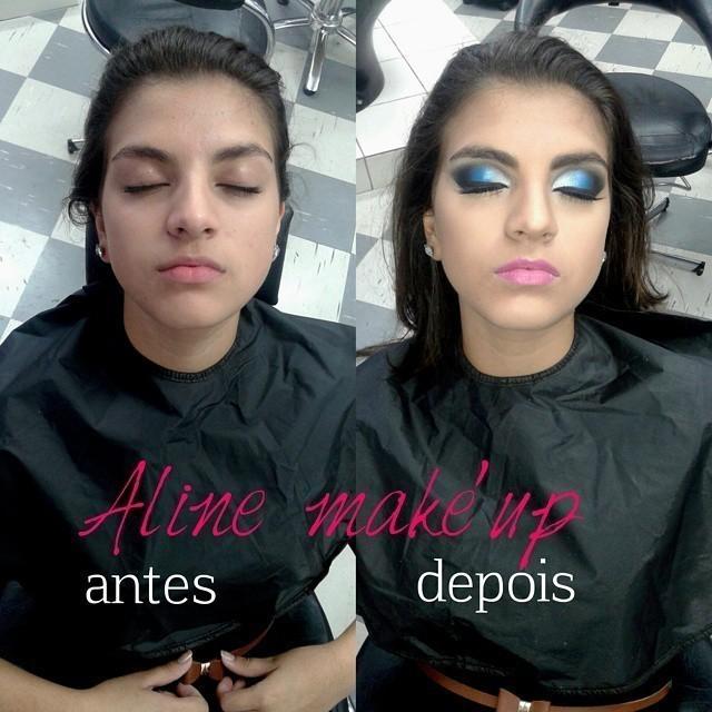 Degradê azul  maquiador(a) escovista