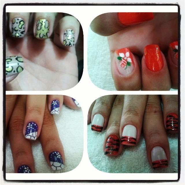 Modelos de unhas artisticas manicure e pedicure