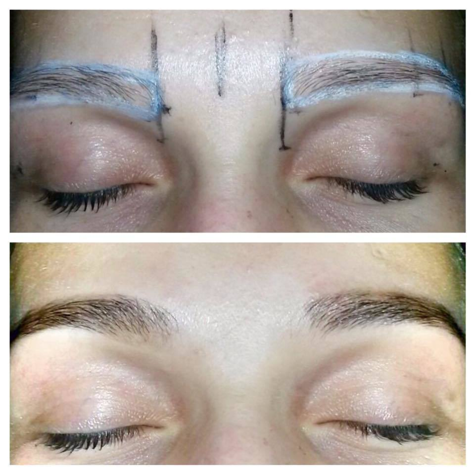 Design de sobrancelha com henna designer de sobrancelhas